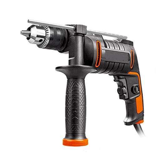 ZHWDD Impact Drill, 3 in 1 Handheld Powerful Flashlight to Electric Hammer Drill, Adjustable Speed High Energy Portable Household Impact Drill, Electrical Tools
