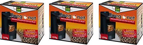 Fuego Net 231296 - Deshollinador Pellets 1,5 kg PACK DE 3 UNIDADES