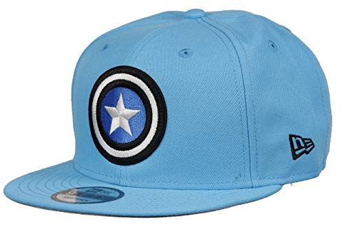 New Era Captain America 9fifty Snapback Cap Colour Injection Neon Blue - One-Size