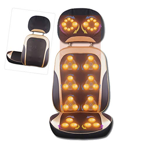 Electric Massager with Heat and Vibration Function,Shiatsu Neck & Back Massager,Massage Chair Pad with Height Adjustment,Give Your Family The Best Gift