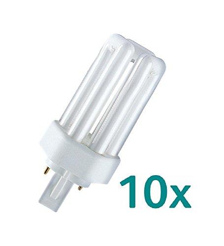 10x Osram Dulux T 13W/840 PLUS 2PIN GX24d-1 114mm Kalt-Weiß
