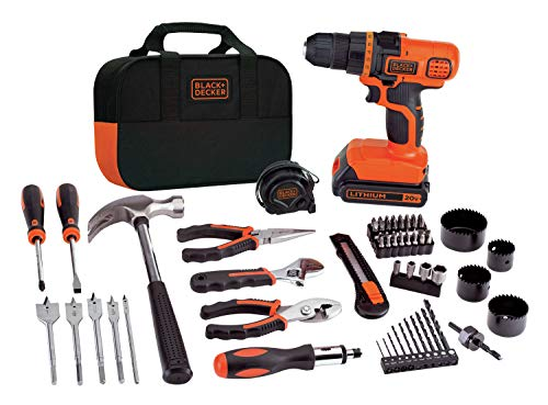 Our #1 Pick is the Black+Decker 20V MAX Drill & Home Tool Kit