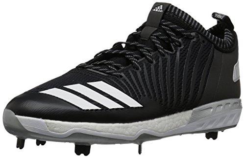 Adidas Energy Boost Icon 3.0 Cleat - Baseball Uomo, Nero (nero/bianco/argento metallizzato), 37 EU