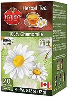 Hyleys Caffeine Free Chamomile Herbal Tea - 20 Tea Bags (Caffeine Free, Gmo Free, Gluten Free, Dairy Free, Sugar Free & 10...