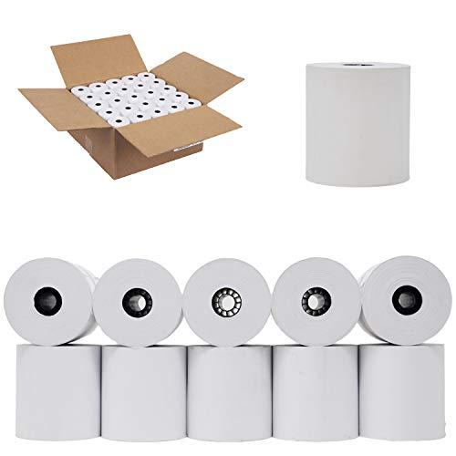 (50 Rolls) 3 x 165' 1-Ply Kitchen Printer Paper Premium Bond Receipt Paper POS Cash Register - BuyRegisterRolls