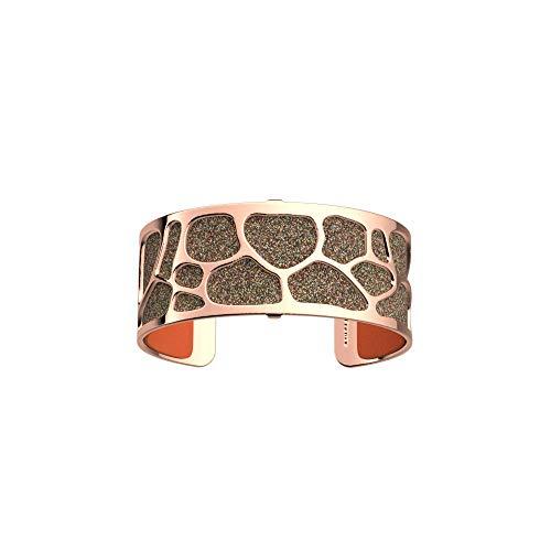 Les Georgettes - Bundle - Armreif Rotgold 25mm Leopard inkl. Ledereinsatz Pailletten Bunt/Orange Rot