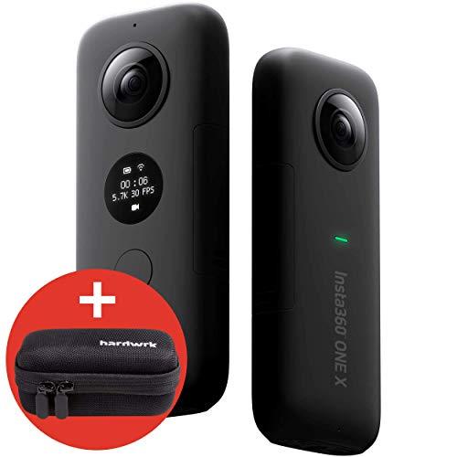 hardwrk Insta360 ONE X Edition mit exklusiver Schutzhülle - 360 Grad Action Sport Kamera Cam - kompatibel mit Apple iPhone und Android - 5,7k Video Auflösung - 18 MP - VR Panorama
