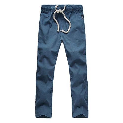 Pantalones Rectos de Color sólido para Hombre, Holgados, de Gran tamaño, Informales, cómodos, Sencillos, Informales, de Moda M