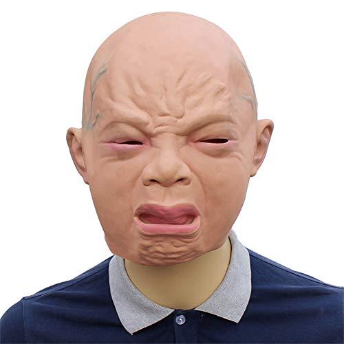 LUCKyou~ Máscara De Látex De Halloween Cara Llorosa Máscara para Niños Realización De Juegos De rol Barra De Cumpleaños