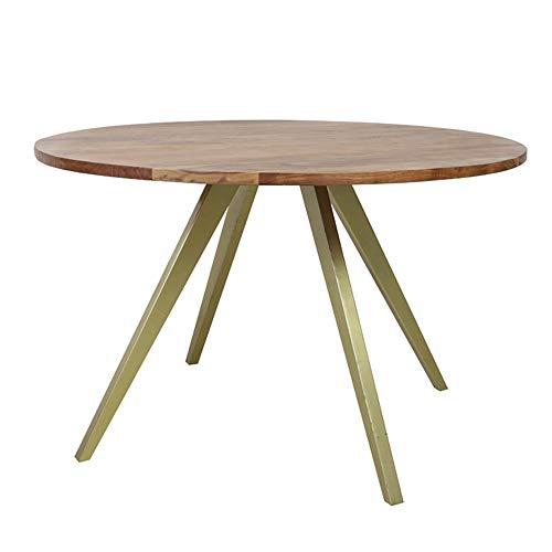 Light & Living Eettafel Ø120x78 cm MIMOSO acacia hout-antiek brons