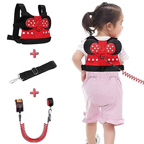 Lehoo Castle Kinder Sicherheitsleine, Kinder Leine Handgelenk, Anti-verloren Gürtel Handgelenk Link (Minnie)