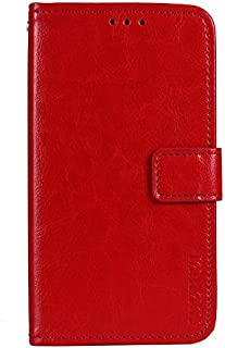 CASE BOX Vodafone Smart N10 Phone Case,Flip wallet with card slots cover for Vodafone Smart N10(Red)