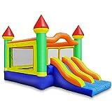 Cloud 9 Commercial Grade Mega Double Slide Castle Bounce House with Blower -...