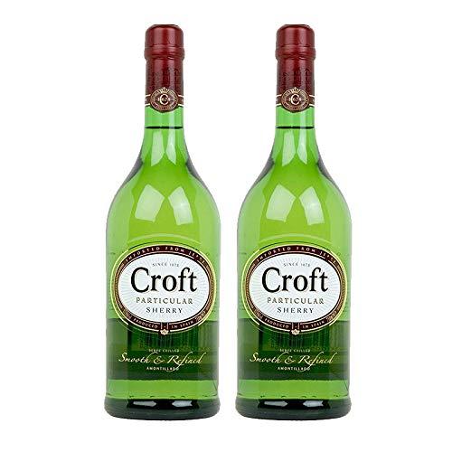 Vino amontillado Croft Particular de 1L - D.O. Jerez de la Frontera - Bodegas Gonzalez Byass (Pack de 2 botellas)