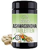 Bio Ashwagandha von GURU - hochdosiert - direkt aus der Wurzel - Indischer Ginseng - Schlafbeere - Nahrungsergänzung - 100% pflanzlich - UV Glasdose (280 Tabletten)