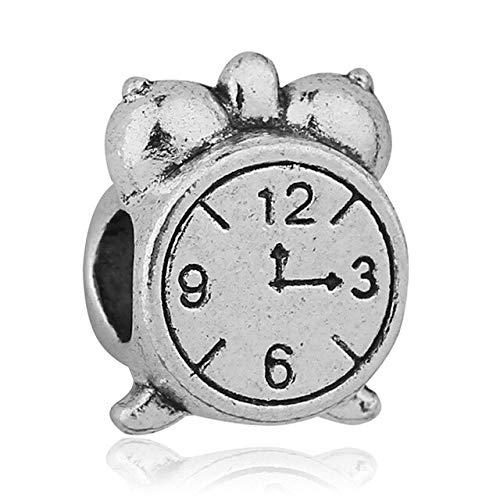 XINGXX accessori Europeo Argento Lega Big Hole Perline Fit Originale Pandora Charms Bracciale Trinket Gioielli orologio