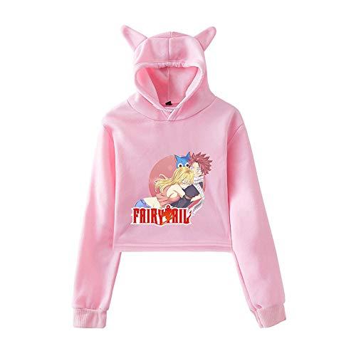 MLX-BUMU Fairy Tail Imprimir Sudaderas con Capucha Mujeres Sudaderas con Capucha Kawaii Sudadera Ropa Tallas Grandes,M