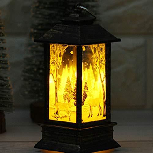 Decoration de Table Noel,Koly Bougie de Noël Traditionnel avec LED Bougies Chauffe-Plat pour la décoration de Noël lumières Décoratif Père Noël Sapin Lumineux décor à la Maison De Fête Chambre (A)
