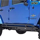EAG Black Steel Upgrade Side Armor Rocker Guard Rock Slider Fit for...