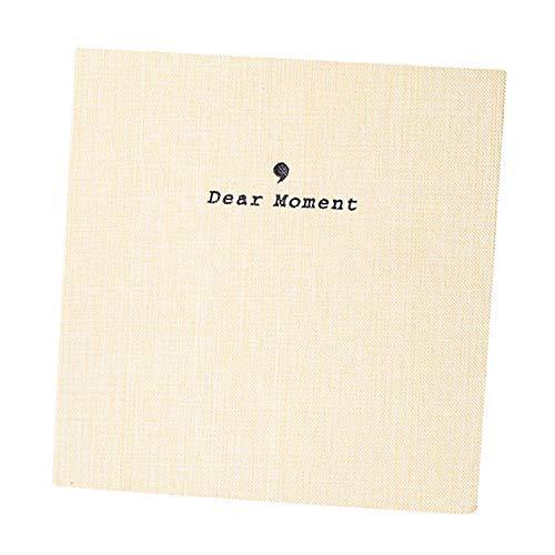 Forusky Instax Wide Album mit 50 Taschen, Stoffeinband, 8,9 x 12,7 cm, für Fuji Instax Wide 210, Instax Wide 300, 12,7 cm, Beige