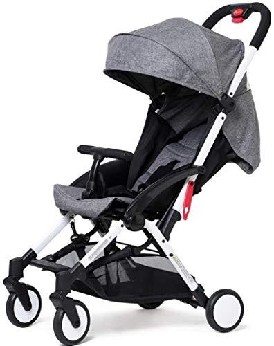 BATOWE Cochecito de bebé recién nacido del niño puede sentarse carro plegable de 4 ruedas portátil de viaje carro choque Cuatro estaciones universal horizontal de un solo clic plegado recién nacido pu
