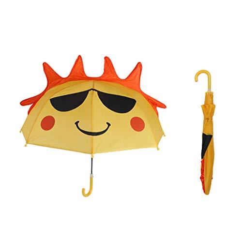TALENT paraplu met 3D-dieren voor kinderen, geschikt voor jongens en meisjes, violet