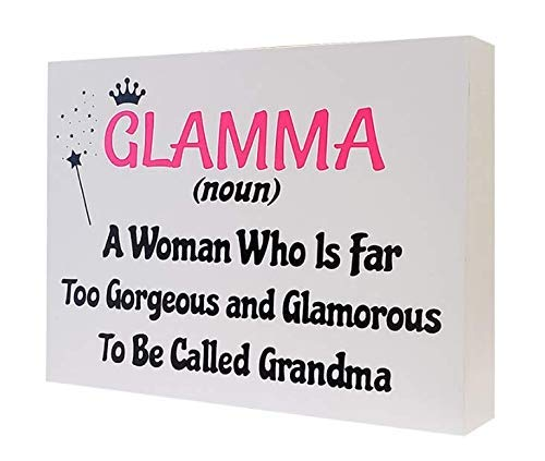 Definition of Glamma Funny Wooden Sign