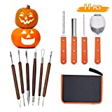 Lulu Home Halloween Pumpkin Carving Kit, 11 Pieces Professional Pumpkin Cutting Supplies for...