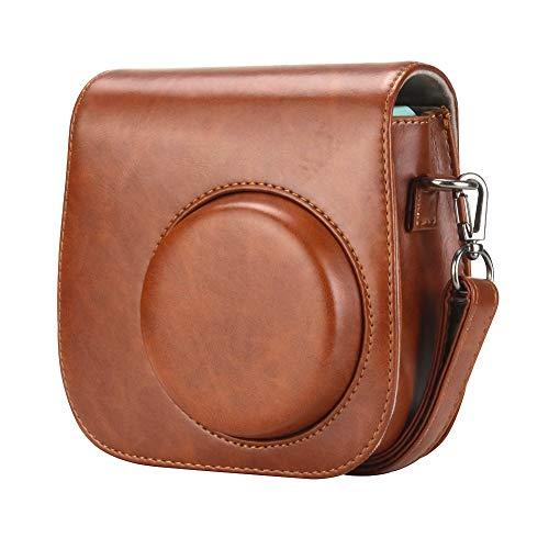 Anter Tasche für Fujifilm Instax Mini 8 8+/Mini 9 Sofortbildkamera aus Weichem Kunstleder mit Schulterriemen & Tasche - Retro Braun