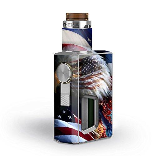 Skin Decal Vinyl Wrap for GeekVape Athena Squonk Kit Vape Kit skins stickers cover/ USA Bald Eagle in Flag