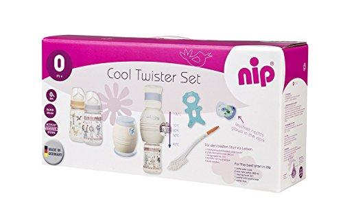 NIP Fläschchenwasser-Abkühler Cool Twister 6-teiliger Set: Kühlt kochendes Wasser exakt auf 40, 50, 60 oder 70° ab, BPA-Frei, ab 0 Jahren