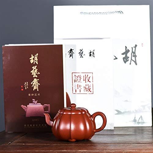 Teapot Ling Teapot Tea cup Together Zhuni Big Red Gluten Grain Kit Maker Classic Tea Set (Color : Purple mud)