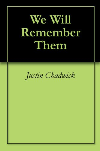 We Will Remember Them (English Edition)