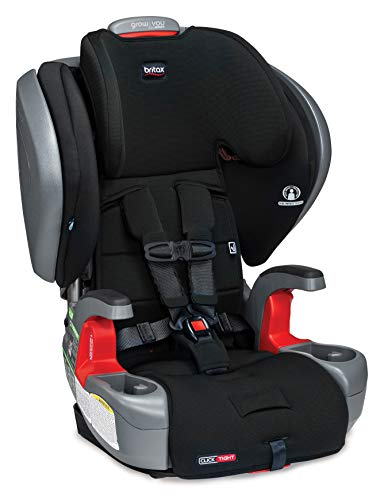 Britax Grow with You ClickTight Plus Harness-2-Booster Car Seat | 3 Layer Impact Protection - 25 to 120 Pounds, Jet Safewash Fabric [New Version of Pinnacle]