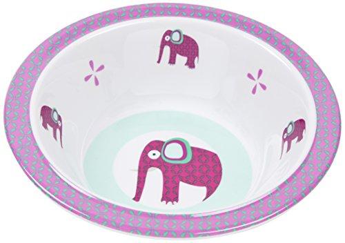 LÄSSIG Schüssel Kinder Baby Kleinkind rutschfest spülmaschinengeeignet Melamin/Bowl Wildlife Elephant