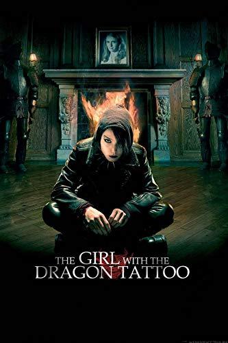 JIUZI-Diy 5D Diamante Pintura Taladro Completo Bordado La Chica Con El Tatuaje De Dragon -Diamante Pintura Bordado Decoración De La Habitación Decoración De La Pared