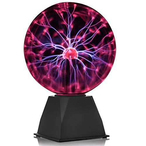 GDRAVEN Mini Plasmalampe Lichter, Plasma Ball lampe | Elektrostatische Kugel Berührungsempfindliche Blitzkugel, mit USB Kugel Blitze Touch Sensitive Lampe Party Kinderzimmer Fest Dekorationen (6 inch)