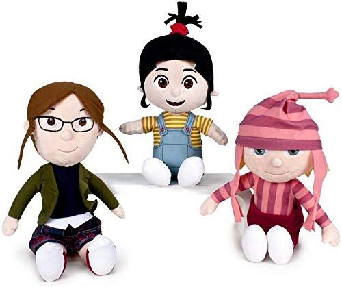 WHITEHOUSE LEISURE Pack 3 Plüsch Mädchen Minions: Agnes + Edith + Margo - Ich – Einfach unverbesserlich