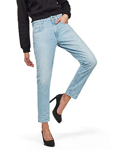 G-STAR RAW Radar Mid Boyfriend Tapered Jeans, Blu (lt Aged A927-424), 27W x 32L Donna