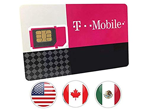 T-Mobile Prepaid SIM Card Unlimited Talk, Text, and Data in USA with 5GB Data in Canada and Mexico for 7 days