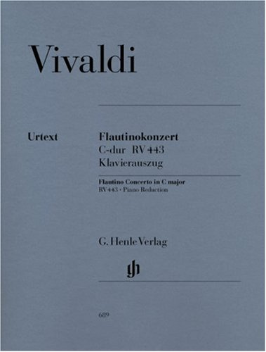 Konzert für Flautino (Blockflöte/Querflöte) und Orchester C-dur op. 44,11 RV 443. Klavierauszug