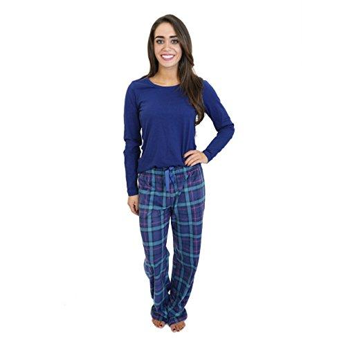 Cherokee Women's 2 Piece Pajama Set, Plaid Two, M