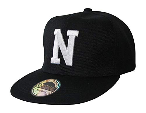 Buchstaben Initialen Snapback Cap Black & White (N)