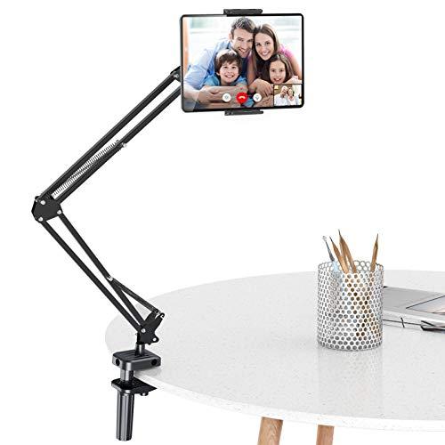 Soporte para Tablet con Cuello de Cisne para el hogar, Compatible con iPad Air 3 Mini 4, Surface Pro 7, MediaPad 6, Samsung Galaxy Tab A50 S20, iPhone 11, etc.