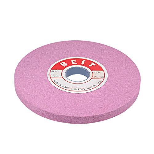 WYZXR Muelas abrasivas de Banco de 7 Pulgadas, óxido de Aluminio Rosa PA 100, Grano para Pulido de Superficies