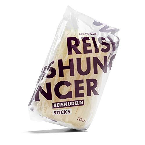 Reishunger Reisnudel Sticks 8er Vorteilspack (8 x 200 g) - Perfekt für Thai Stir-Fry & Wok Gerichte - in verschiedenen Größen erhältlich