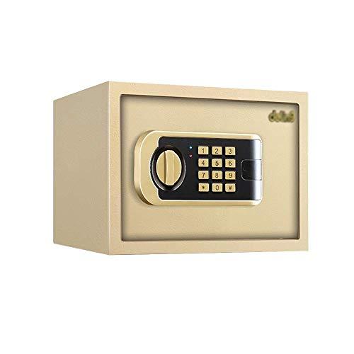 ZHAS Safe Safe, Kleines Safe-Kastenbett aus Stahl Unsichtbares elektronisches Passwort Feste Installation, Für Safe-Office-Safes für das Home Office (Farbe: B, Größe: 20 cm)