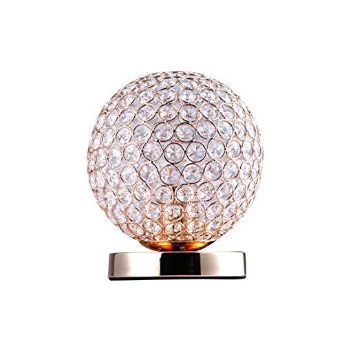 Yanqhua Lámpara de Mesa Lámparas de Mesa Modernas de Cristal for Dormitorio, Sala de Estar, Estudio, Oficina de Plata Moderna Plata/lámpara de Escritorio de Oro (Lampshade Color : Gold)