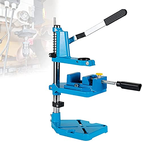 YUnZhonghe Adjustable Drill Press Stand, Mini Bench Drill with High-precision Clamp, Ergonomically Handle, 60mm Stroke Scale Design for DIY Design, Repair