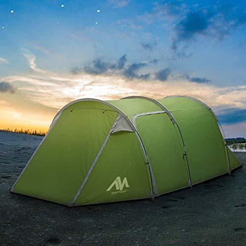 AYAMAYA テント 2ルーム 前室付き トンネル テント 2-4人用 ツールーム ツーリングテント キャンプテント 大型 日よけ 防雨 通気 メッシュ 軽量 コンパクト 収納袋付き ファミリー キャンプ バーベキュー ビーチ 防災 防風 (3人用)
